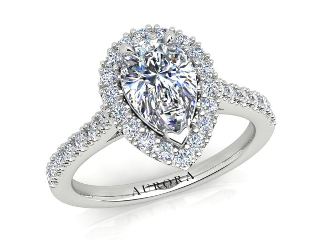 AURORA 18CT GOLD F SI1 AUP, G SI RB TDW- 1.39CT DIAMOND RING
