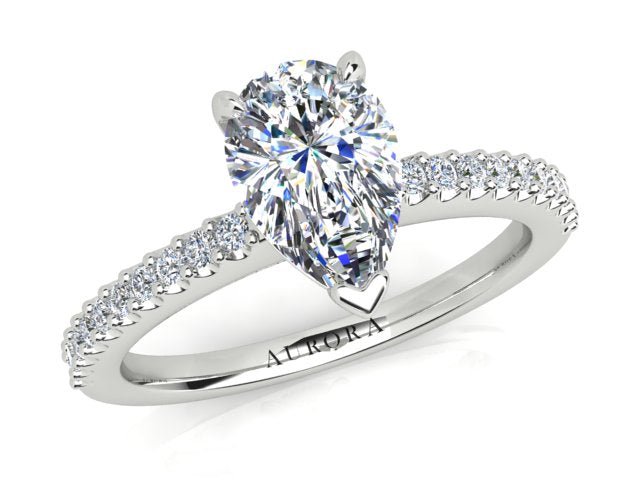 AURORA 18CT GOLD F SI1 AUP, G SI RB TDW- 1.20CT DIAMOND RING