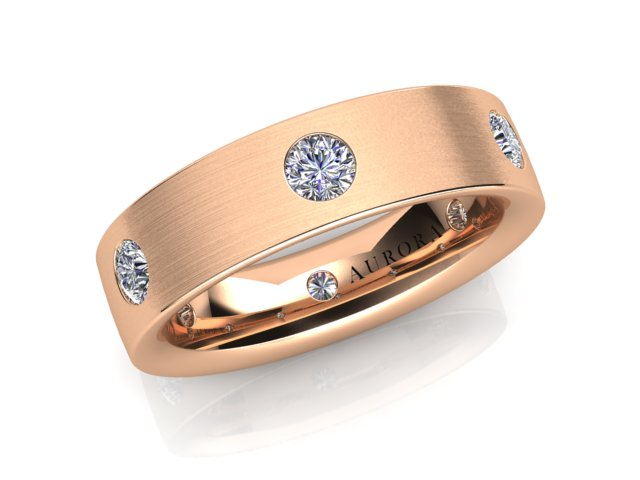 AURORA 18CT GOLD G SI1 TDW-0.60CT DIAMOND RING