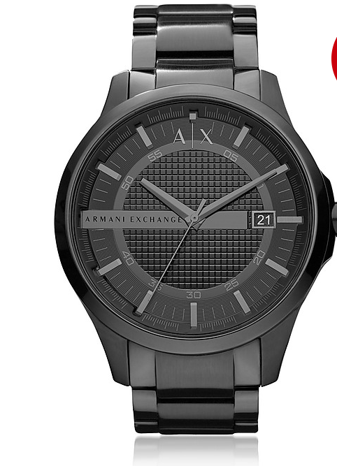 AX HAMPTON WATCH BLACK DIAL BLACK STAINLESS STEEL