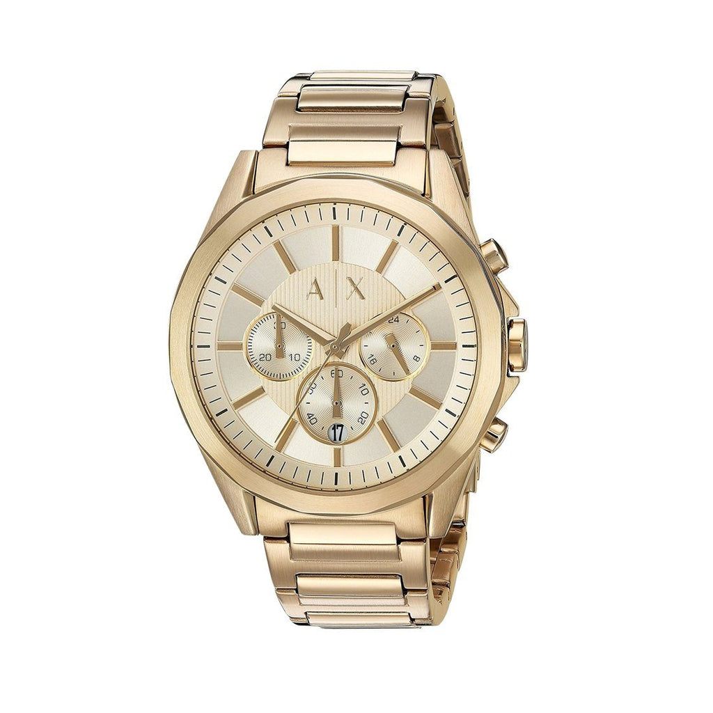 ARMANI EXCHANGE MENS GOLD TONED CHRONOGRAPH