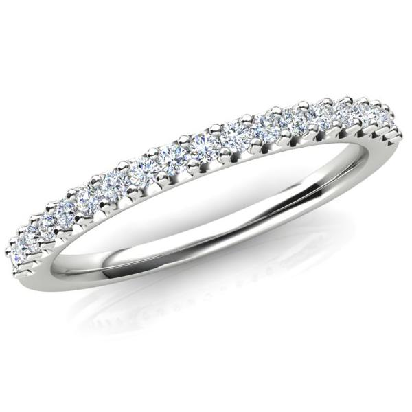 AURORA 18CT WHITE GOLD G SI - 0.242CT TDW DIAMOND RING