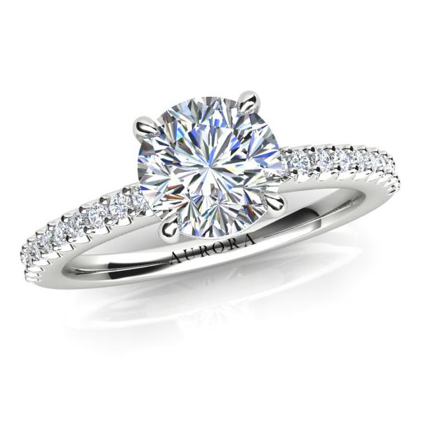 AURORA 18CT WHITE GOLD AND PLATINUM G SI1- 0.86CT TDW DIAMOND RING