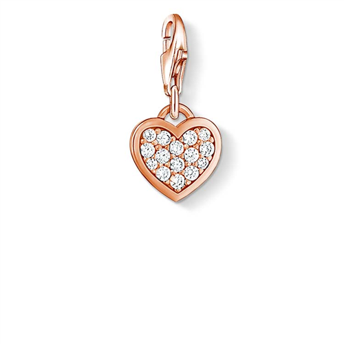 C/CLUB HEART PAVÉ CZ ROSÉ GP
