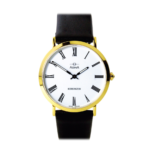 GENTS KENSINGTON GOLD AND WHITE WITH STRAP