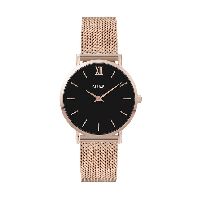 CLUSE MINUIT MESH ROSE GOLD/BLACK