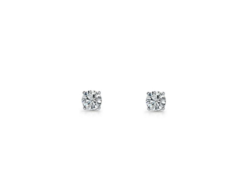 S/S 4MM ROUND WH CZ CLAW SET STUDS - RRP $29