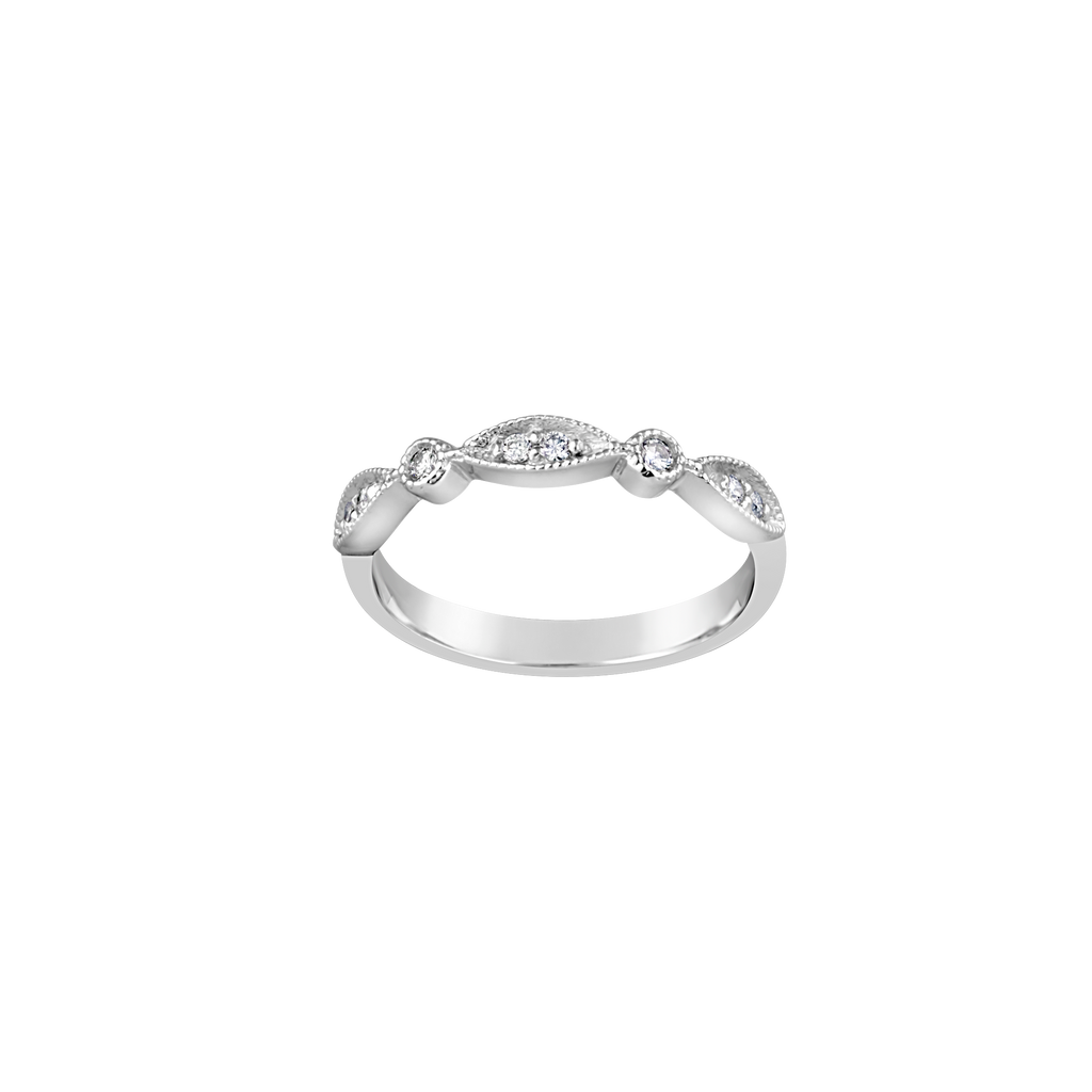 9CT WG DIAMOND RING TDW=0.11 G SI2