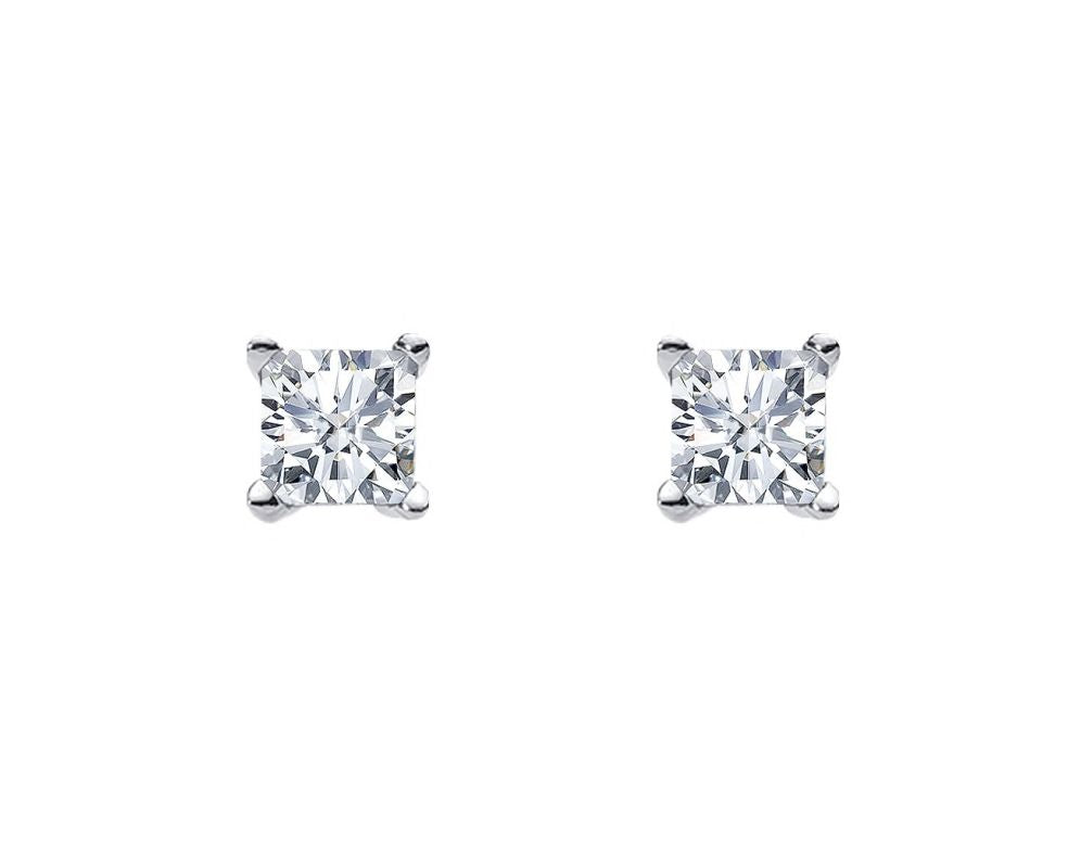 S/S 7MM PRINCESS WH CZ CLAW STUDS