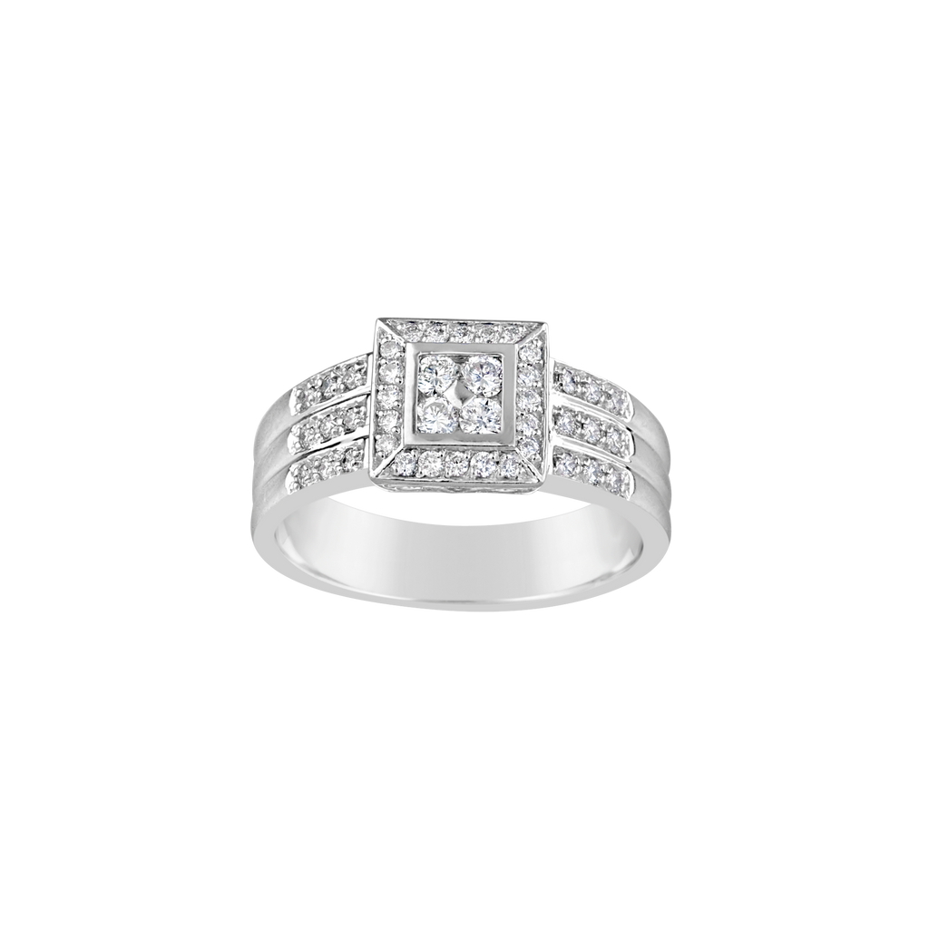 9CT WG DIAMOND RING TDW 0.55 G SI2