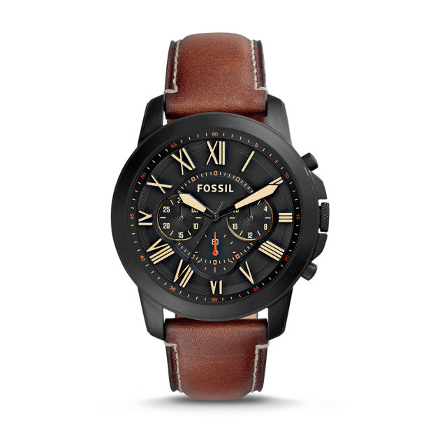 FOSSIL MD RD BLK BLK STP