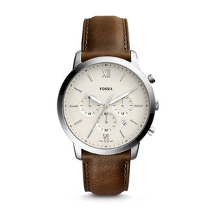 FOSILL GENTS BROWN LEATHER WATCH
