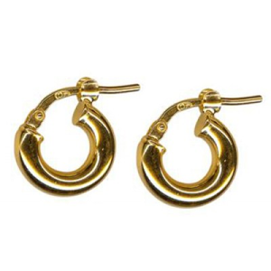 S/S ITALIAN PLAIN HOOP EARRINGS