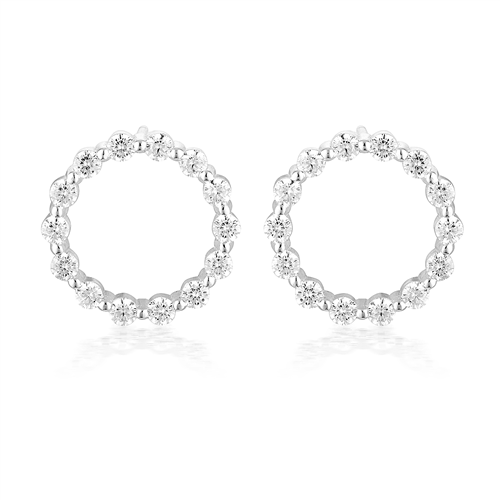 GEORGINI LOVE, FAITH & DEVOTION SMALL CIRCLE OF LIFE EARRING - SILVER