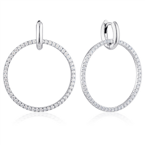 GEORGINI JULIETTA JULIETTA ROUND DROP EARRINGS