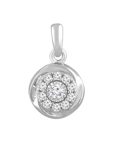 #9A 9CT WHT GOLD 0.18CT DIAMOND PENDANT