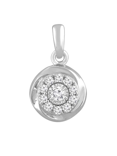 9CT WHT GOLD 0.18CT DIAMOND PENDANT