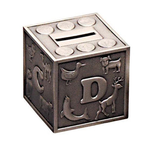 BANK CUBE ABC PEWTER