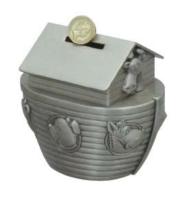 NOAHS ARK PEWTER BANK