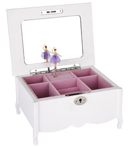 JEWELLERY BOX BALLERINA WHITE FONTANYE