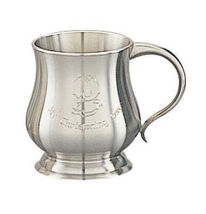 PEWTER CHRISTENING MUG