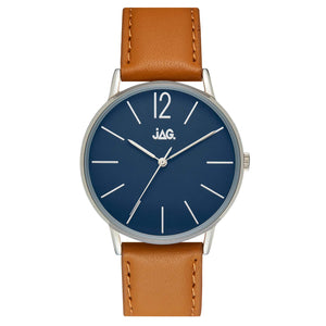 #9A BILLY NAVY D SILV C 40 MM TAN STR