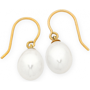 9CT Y/G FRESHWATER PEARL EARRINGS