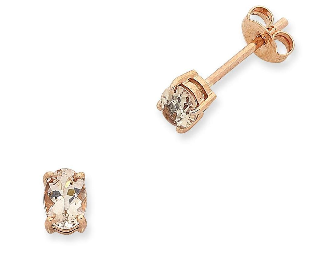 9CT RG MORGANITE EARRINGS