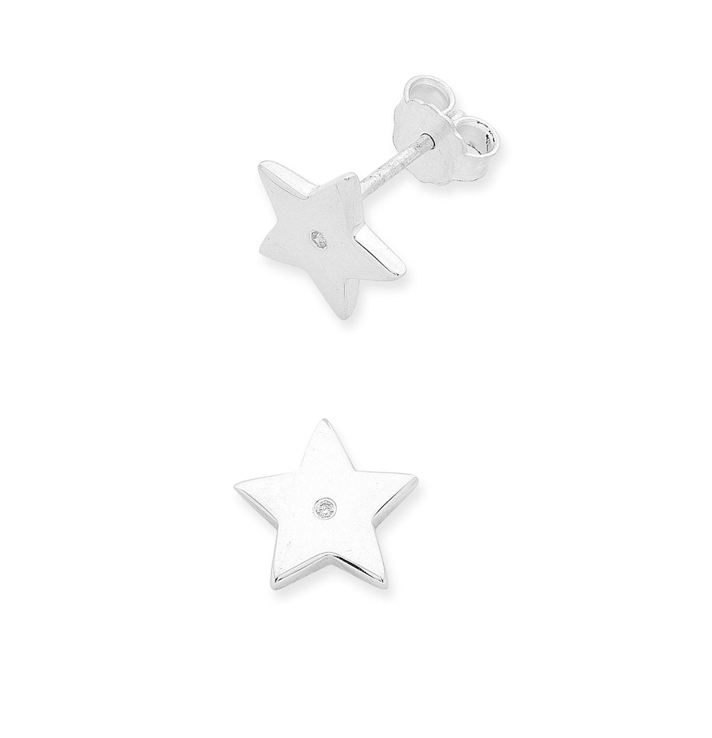 S/S DIAMOND STAR EARS