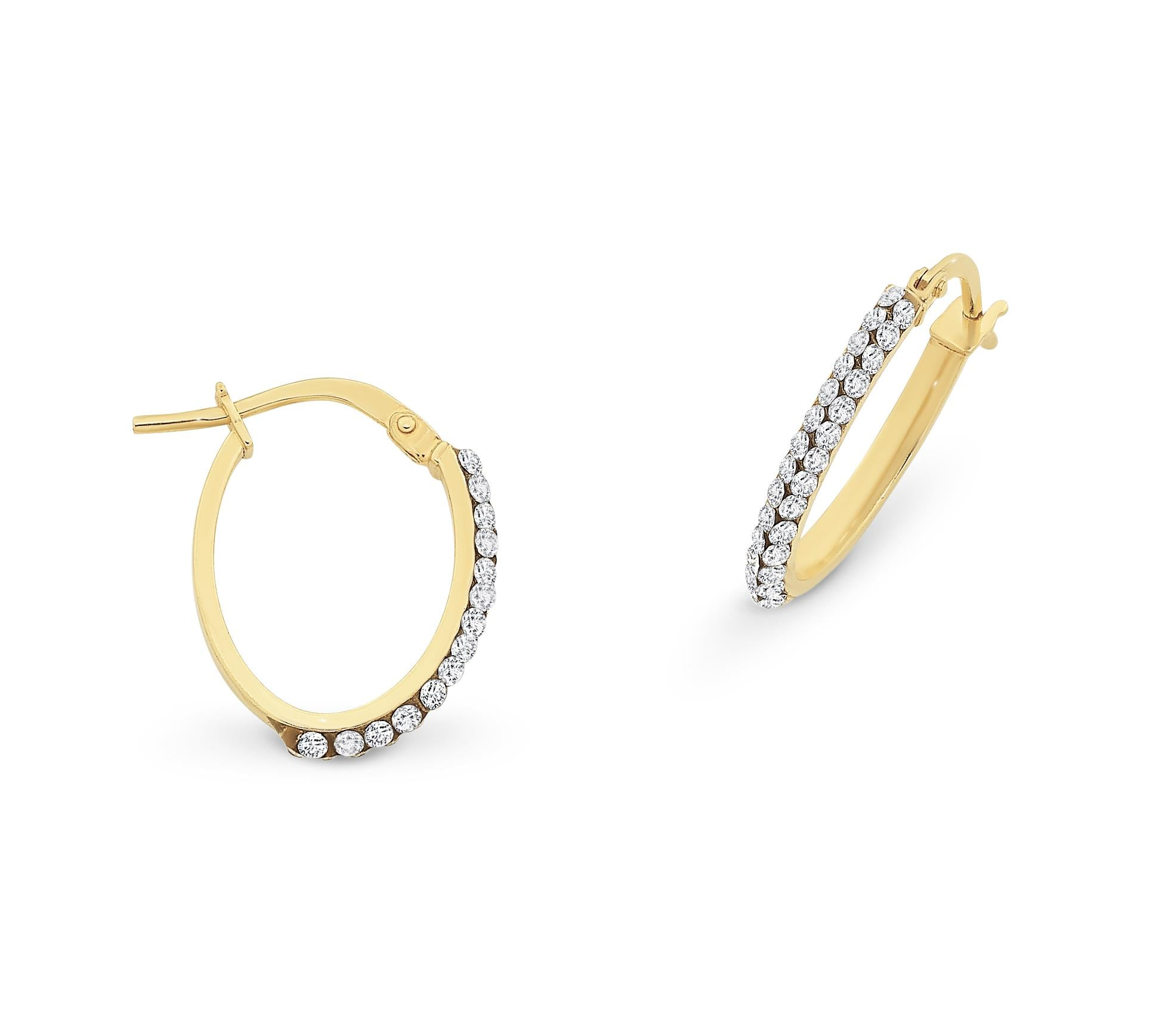 9CT GOLD SILVER FILLED HOOPS.