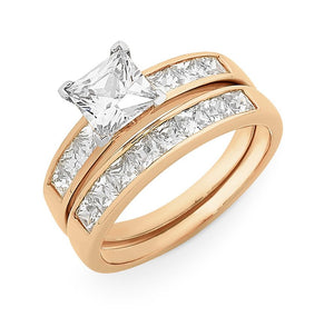 9CT  RG CZ BRIDAL SET