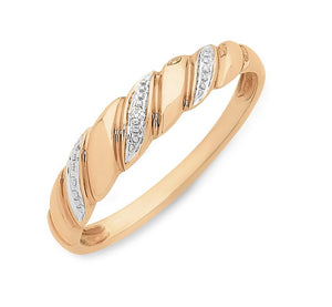 9CT RG DIAMOND RING
