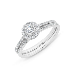 9CT WG 0.50CT DIAMOND BRIDAL SET