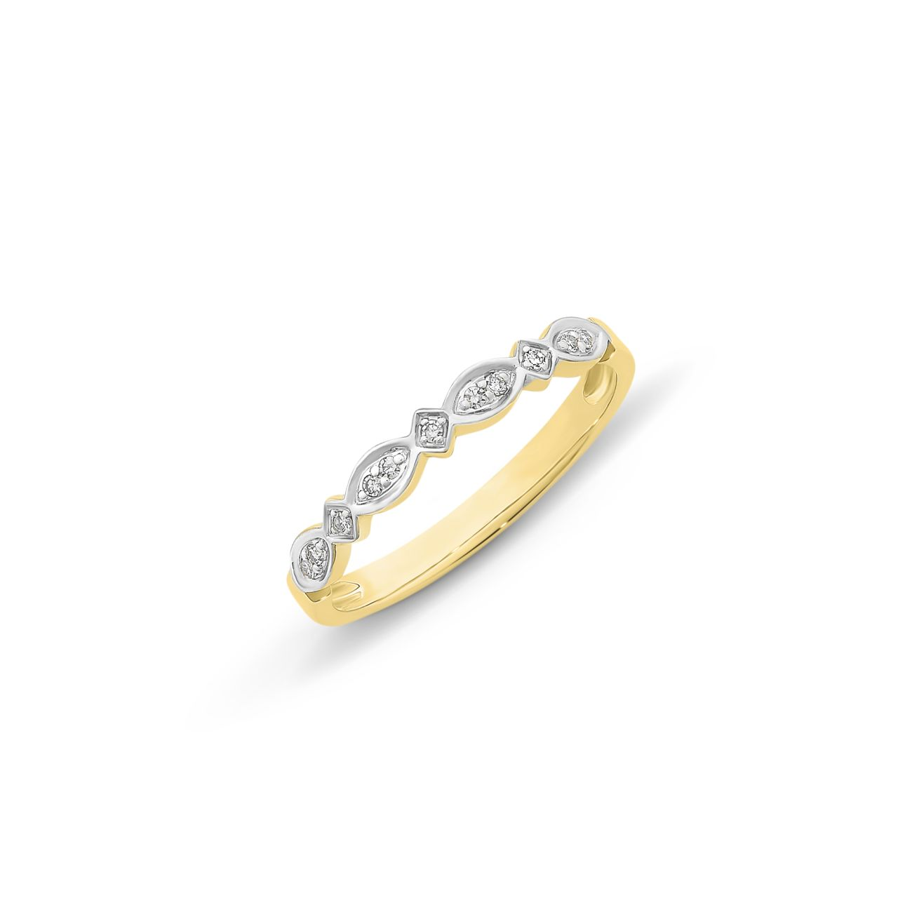 9CT YG DIAMOND RING
