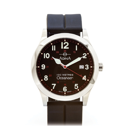 OCEANEER 100M S/S BLACK F/FIG STRAP