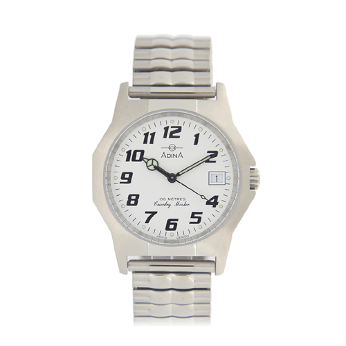 COUNTRY MAST 100M S/S WHITE DIAL EXPAND