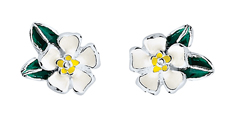 #3 CHILD WHITE WILD FLOWER STUDS