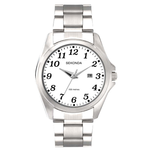 #8A CHROME CASE WHITE DIAL S/S B/LET 100M