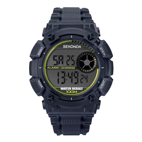 DIGITAL BLACK CASE BLACK DIAL 100M