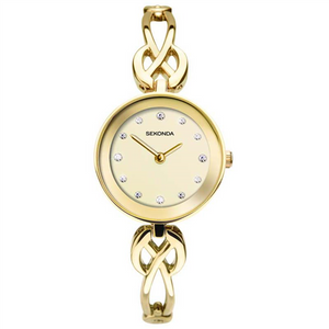 #8A GOLD CASE CHAMPAGNE DIAL GOLD BLET