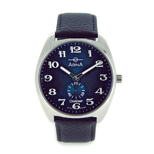 GENTS OCEANEERT S/S BLUE LEATHER STRAP