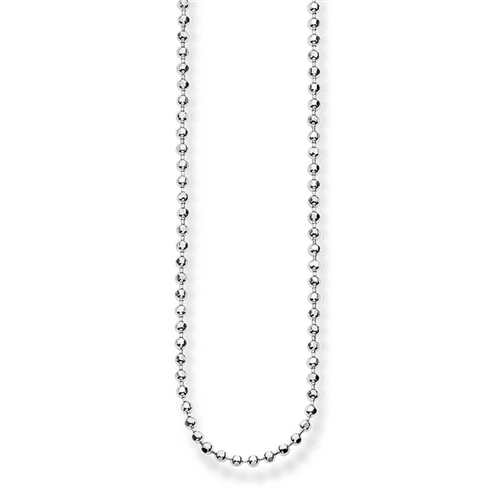 #5 FINE DIAMOND CUT BALL CHAIN N/L 80CM