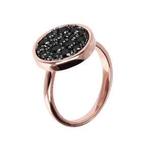 #9A BLACK SPINEL ROUND RING