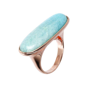 #9A OVAL AMAZONITE ADJ RING MED 14-18