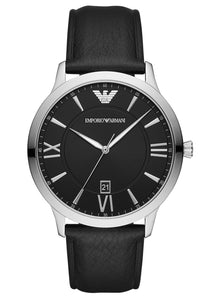EMPIRO ARMANI LEATHER WATCH GENTS