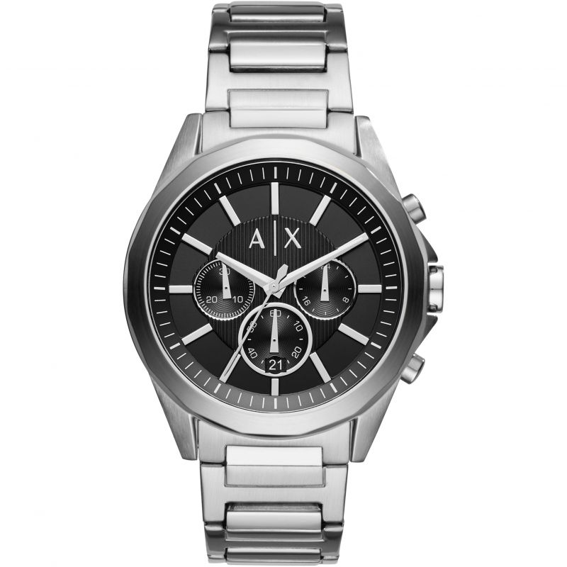 ARMANI EXCHANGE BLACK CHRONOGRAPH DIAL STAINLESS STEEL