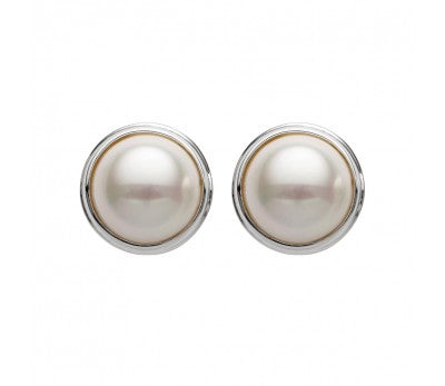 S/S ROUND SHAPED PEAR CLIP ON EARRING 19MM