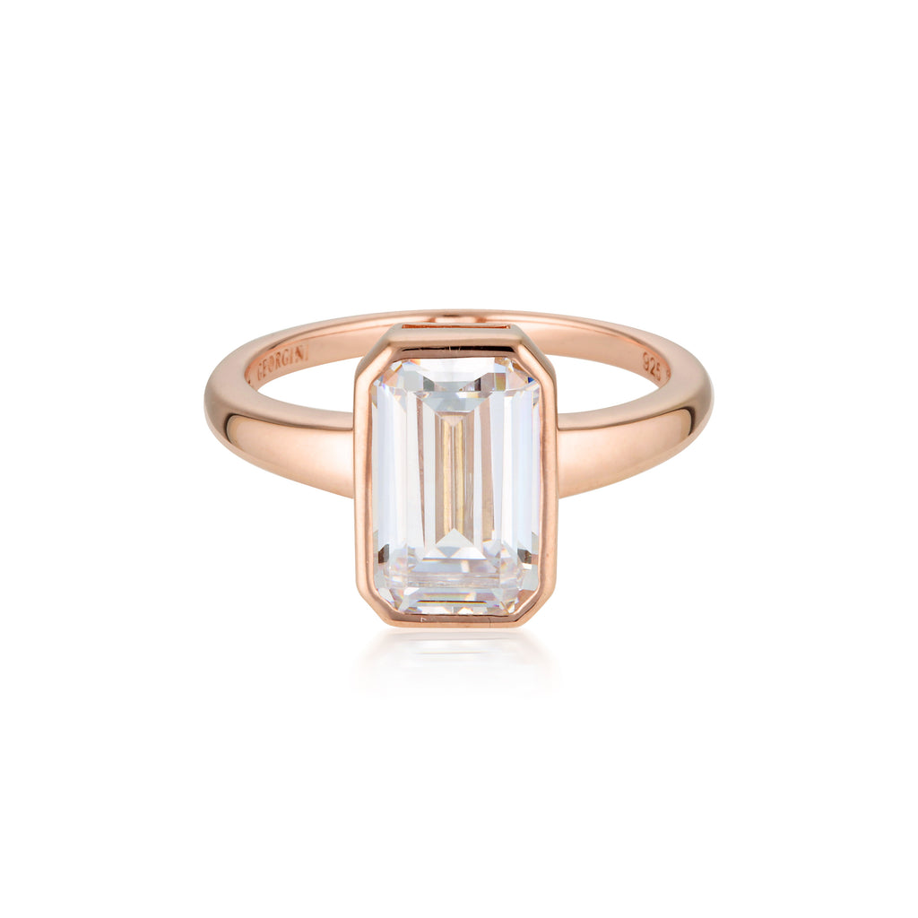 LUXE SONTUOSA RING ROSE GOLD SIZE 8