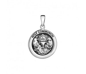 S/S HOLY COMMUNION PENDANT 29X19MM