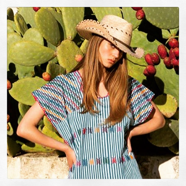 Capelo Hats were used in a Pippa Holt Kaftans campaign